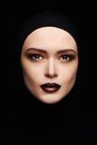 Beauty make-up.beautiful woman face like a mask. female mask Royalty Free Stock Photos