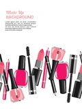 Beauty make up cosmetics abstract background Stock Photo