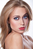 Beauty Make Up Cosmetics woman portrait. Royalty Free Stock Photos