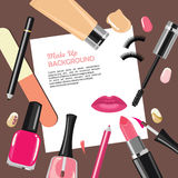 Beauty make up fashion cosmetics abstract background Royalty Free Stock Image