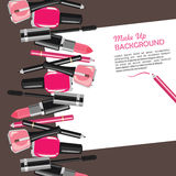 Beauty make up fashion cosmetics abstract background Stock Image