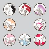 Beauty and make up icon set Stock Photo