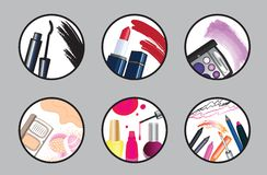 Beauty and make up icon set Royalty Free Stock Photo