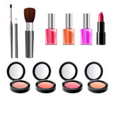Beauty and Make up Illustration - Cosmetics Background Royalty Free Stock Image