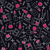 Beauty and make up pattern Royalty Free Stock Photos