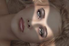 Beauty make up portrait stock photos