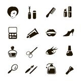 Beauty  and make up vector black icons Stock Photography