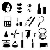 Beauty and make up vector black icons Stock Image