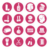 Beauty and makeup cosmetic icons. Vector illustration. Royalty Free Stock Photos