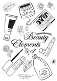 Beauty and makeup elements Stock Images