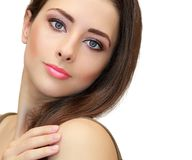 Beauty makeup female face looking. Stock Photography