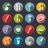 Beauty and makeup flat icons Royalty Free Stock Image