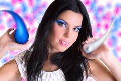 Beauty makeup girl Stock Photo