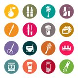 Beauty and makeup icons Stock Photography