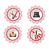 Beauty and makeup icons Royalty Free Stock Photos