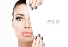 Beauty Makeup and Nail Art Concept Royalty Free Stock Photo