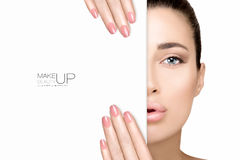 Beauty Makeup and Nail Art Concept Royalty Free Stock Images