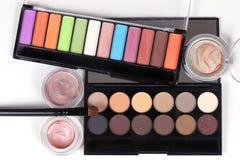 Beauty makeup shadows Royalty Free Stock Photos