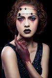 Beauty makeup studio shoot. royalty free stock photo