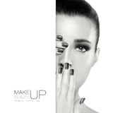 Beauty and Makeup. Template Design Stock Photography