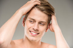 Beauty man stock images
