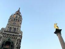 Marienplatz. The beauty of Marienplatz without the caos that surrounds it royalty free stock photos