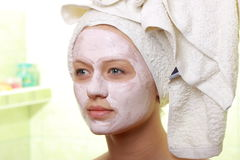 Beauty mask Stock Photo