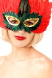 Beauty in mask Royalty Free Stock Images