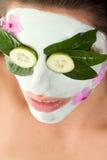 Beauty Mask. Masked Beauty Stock Photo