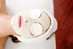Beauty mask with eyepads Royalty Free Stock Images