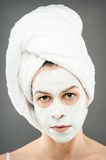 Beauty Mask Portrait. Image of a model wearing a beauty mask Royalty Free Stock Photo