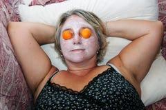 Beauty mask woman Stock Photo