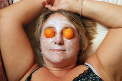 Beauty mask woman Royalty Free Stock Photos