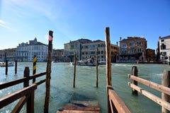 The Venetian architecture near the Rialto Bridge in Venice Royalty Free Stock Image