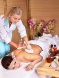beauty massage spa νεολαίες επιτραπέζι& Στοκ Εικόνες