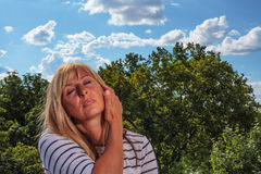 Beauty of a Mature Woman Royalty Free Stock Photo