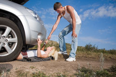 Beauty mechanic Stock Photo
