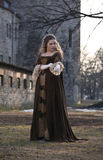 Beauty in medieval dress Royalty Free Stock Photos