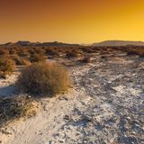 The beauty of the Middle East. Colorful rocky hills of the Negev Desert in Israel. Breathtaking landscape and nature of the Middle East at sunset royalty free stock image