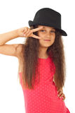 Beauty model girl with hat Royalty Free Stock Photography