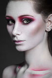 Beauty model girl with pink make up Stock Photo