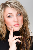Beautiful Woman Face. Looking at Camera. Stock Images