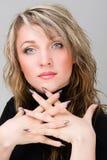 Beautiful Woman Face. Looking at Camera. Royalty Free Stock Photo