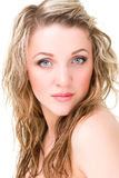 Beautiful Woman Face. Looking at Camera. Royalty Free Stock Photos