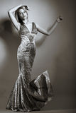 Beauty model girl in studio Royalty Free Stock Photography