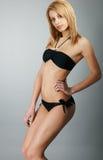 Beauty model girl in studio Stock Photography