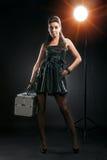 Beauty model on photosession Stock Photos