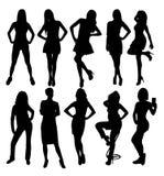 Beauty Model Silhouettes, art vector design. Beauty and Sexy Model Silhouettes, art vector design Stock Image