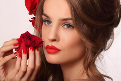 Beauty model woman with beautiful make up Royalty Free Stock Photos