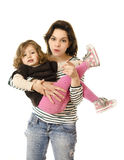 Beauty mother and daughter Stock Photos